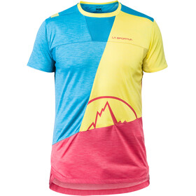 La Sportiva M's Workout T-Shirt Tropic Blue/Lemonade